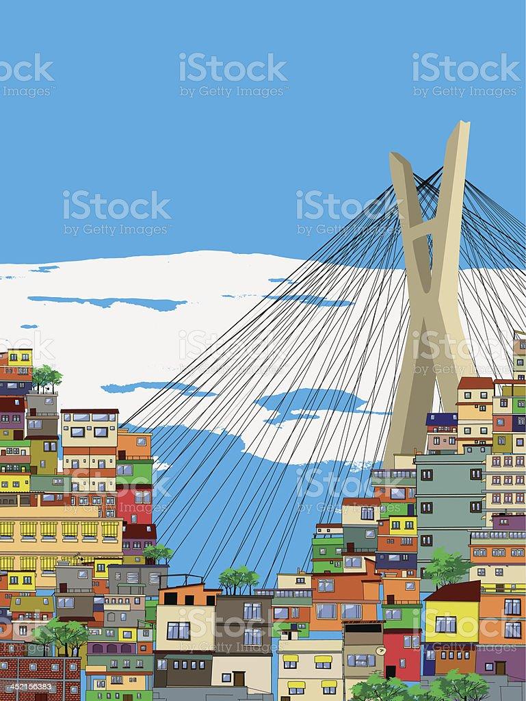 Sao Paulo royalty-free stock vector art