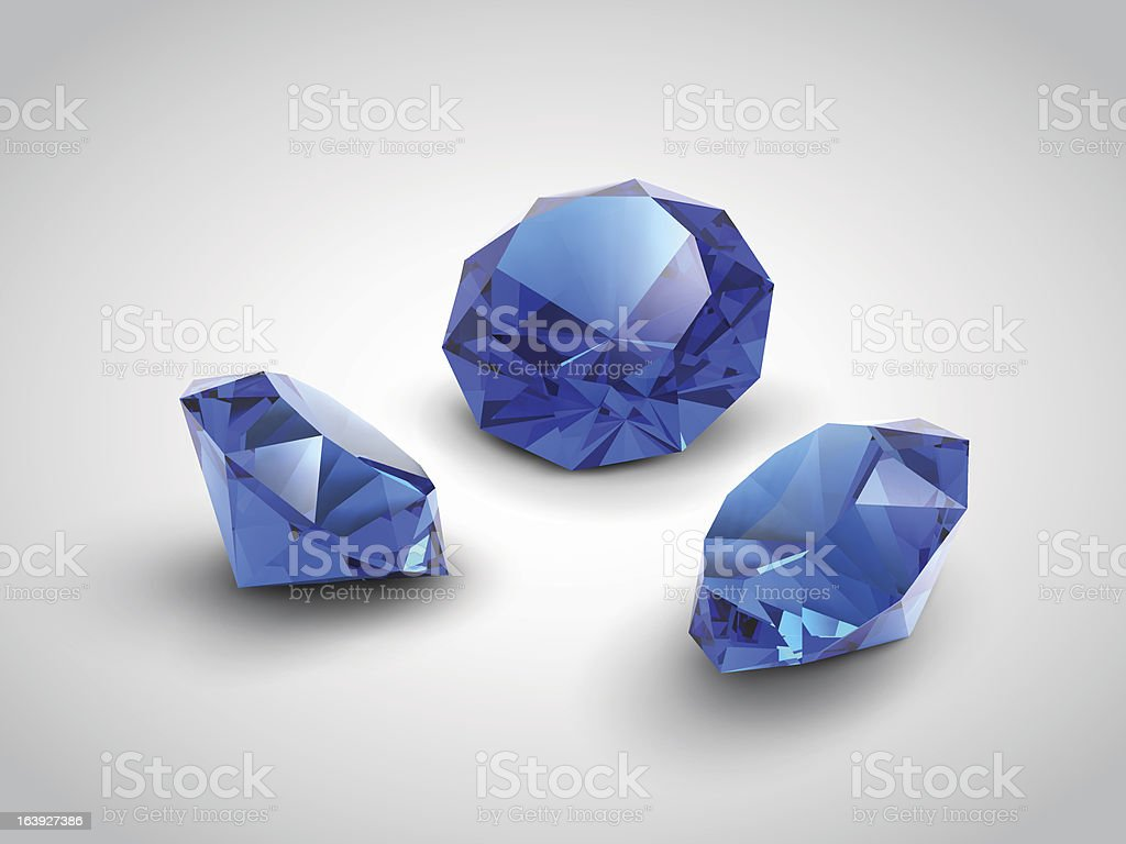 sapphire gems royalty-free stock vector art