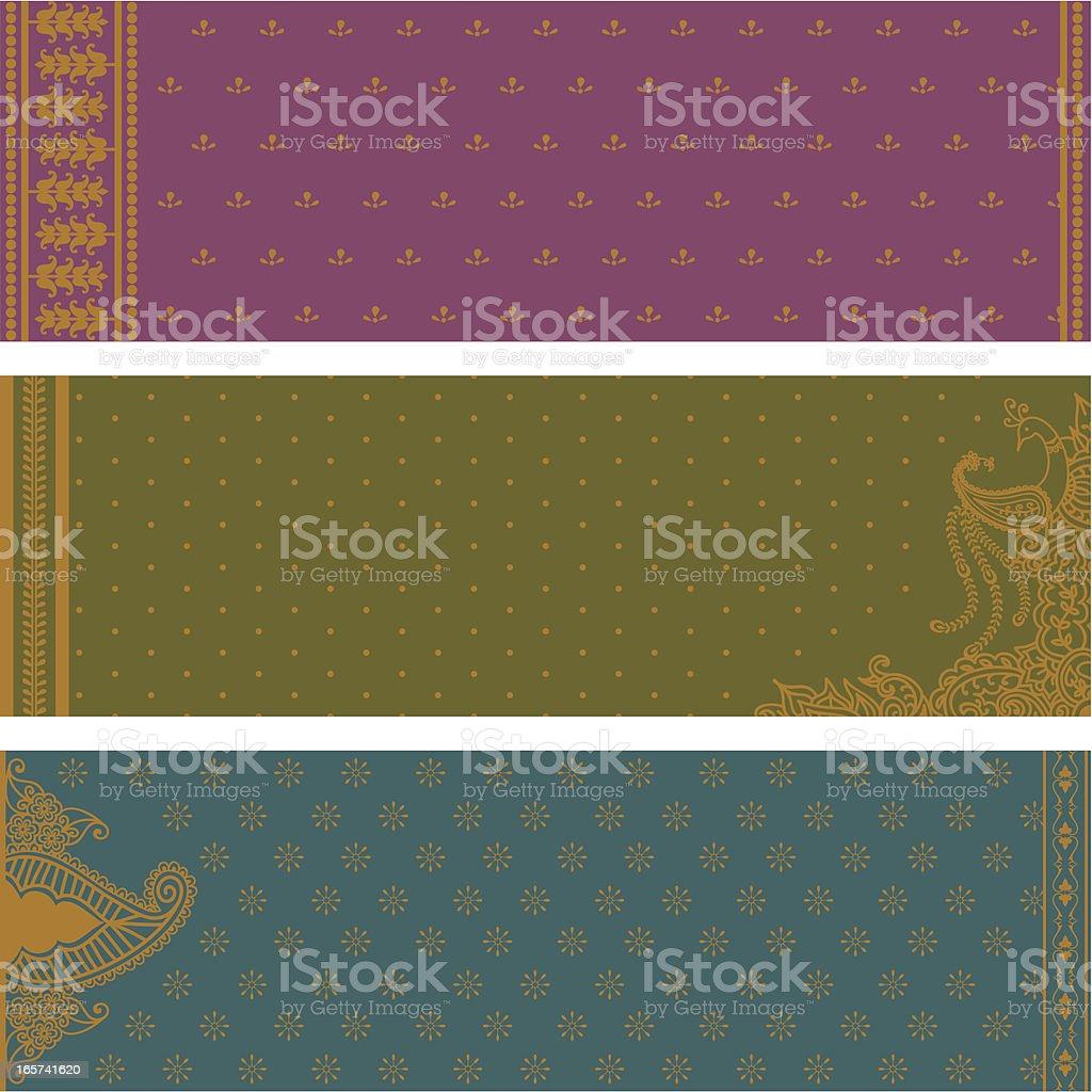 Sari Banners vector art illustration