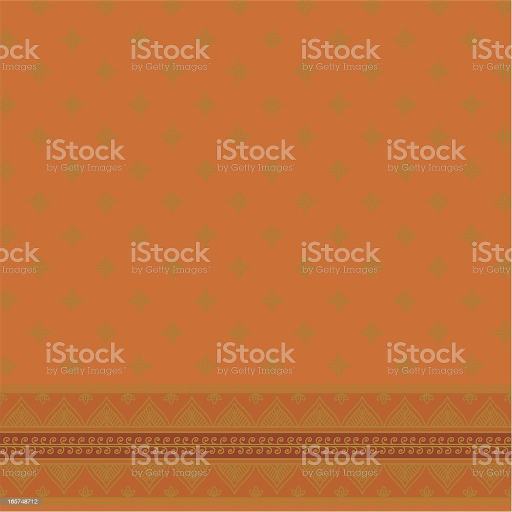 Sari Square - Orange royalty-free stock vector art