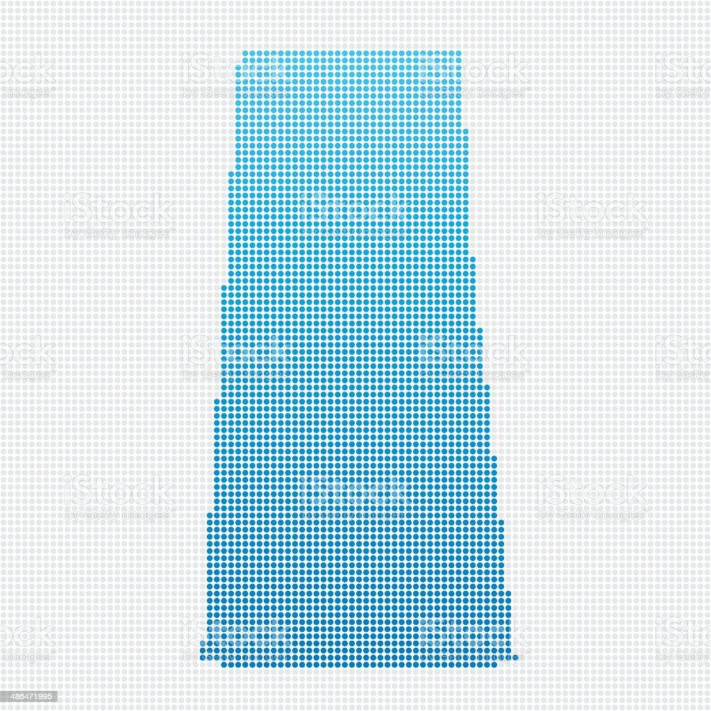 Saskatchewan Map Blue Dot Pattern vector art illustration
