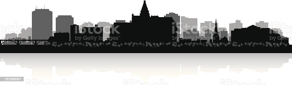 Saskatoon Canada city skyline vector silhouette royalty-free stock vector art