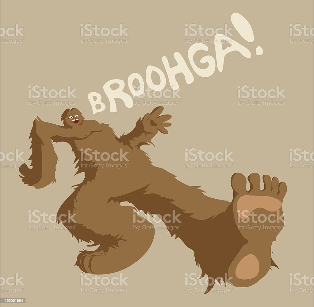 Sasquatch vector art illustration
