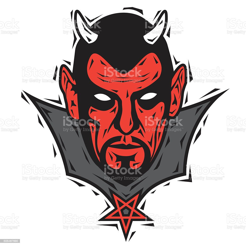 Satan. Vector vector art illustration