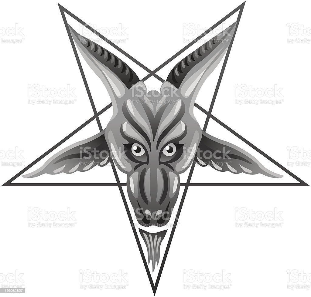 Satanic Pentagram royalty-free stock vector art
