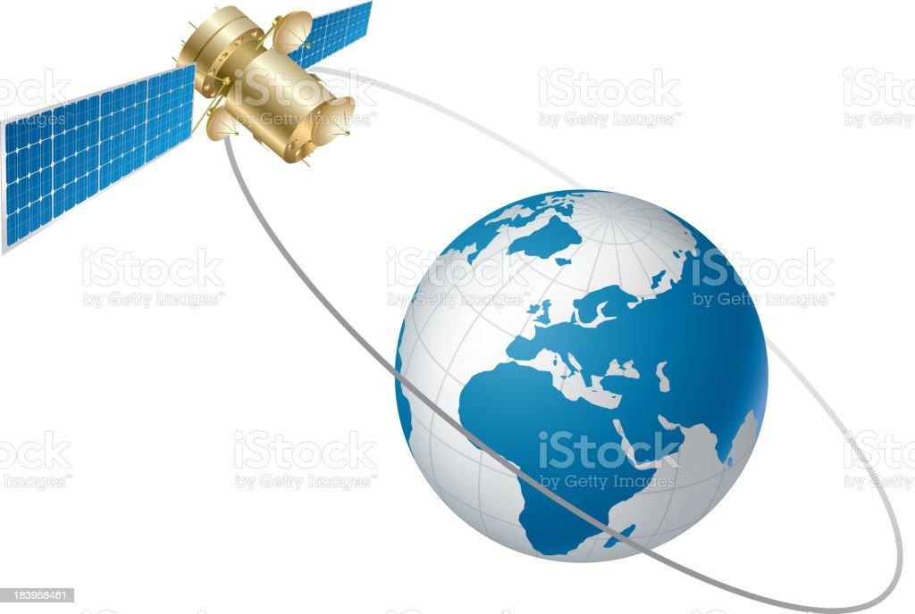 Satellite communication royalty-free stock vector art