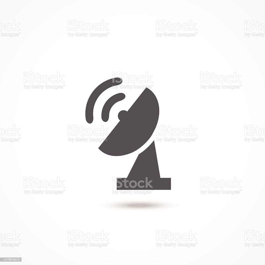 Satellite dish icon vector art illustration