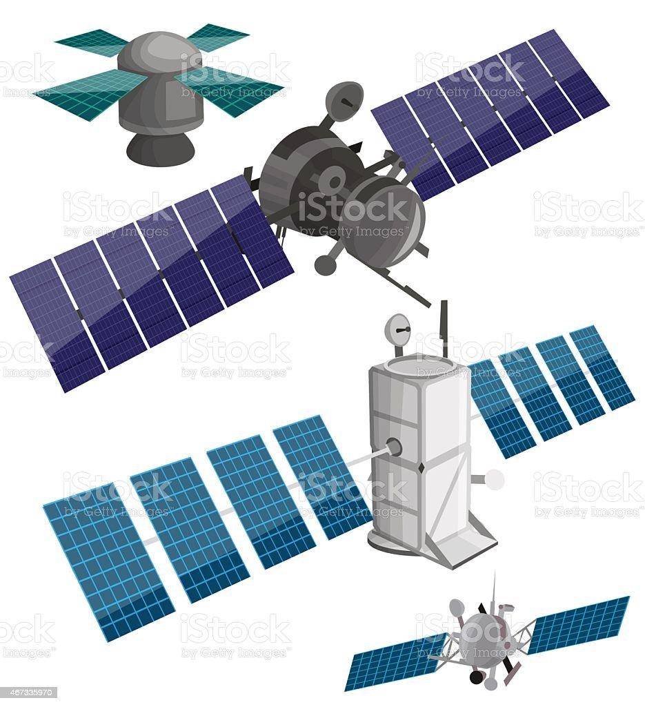 Ensemble par Satellite stock vecteur libres de droits libre de droits