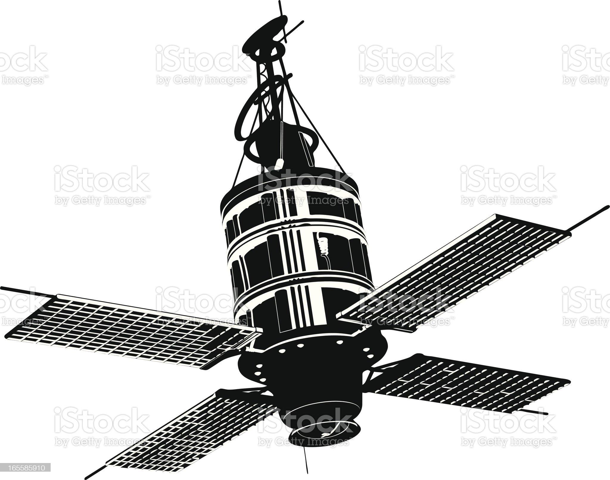 Satellite royalty-free stock vector art