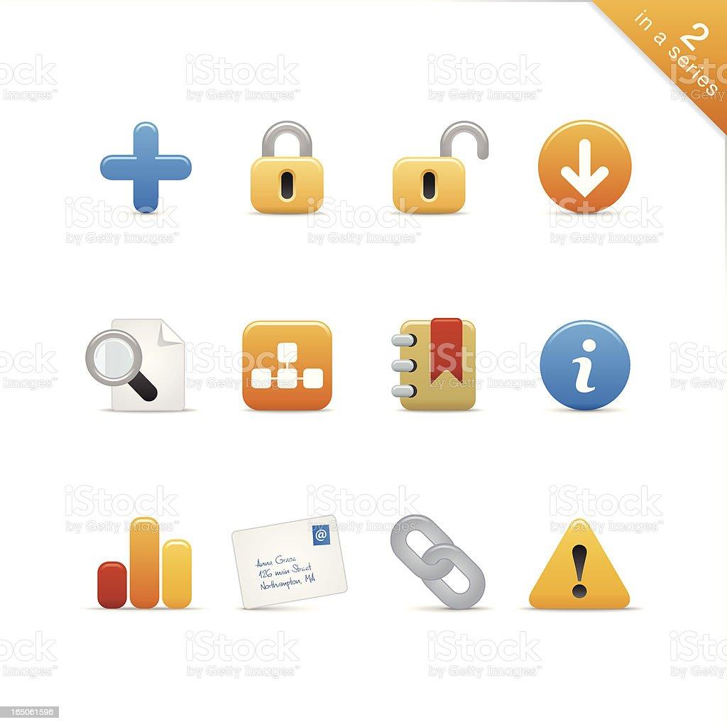 Satin Icons | Set 2 royalty-free stock vector art