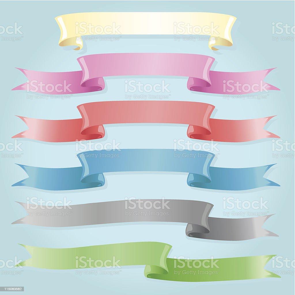 Satin Ribbons royalty-free stock vector art