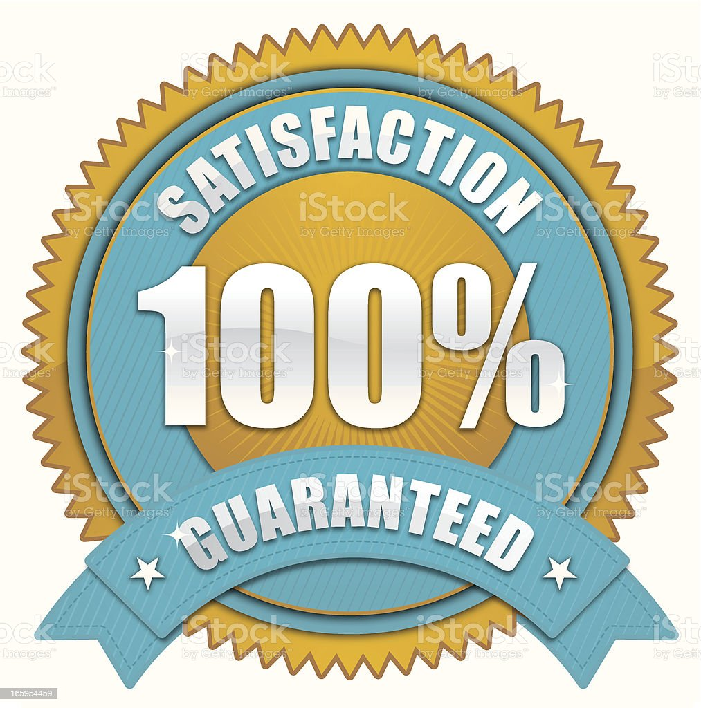 Satisfaction badge royalty-free stock vector art