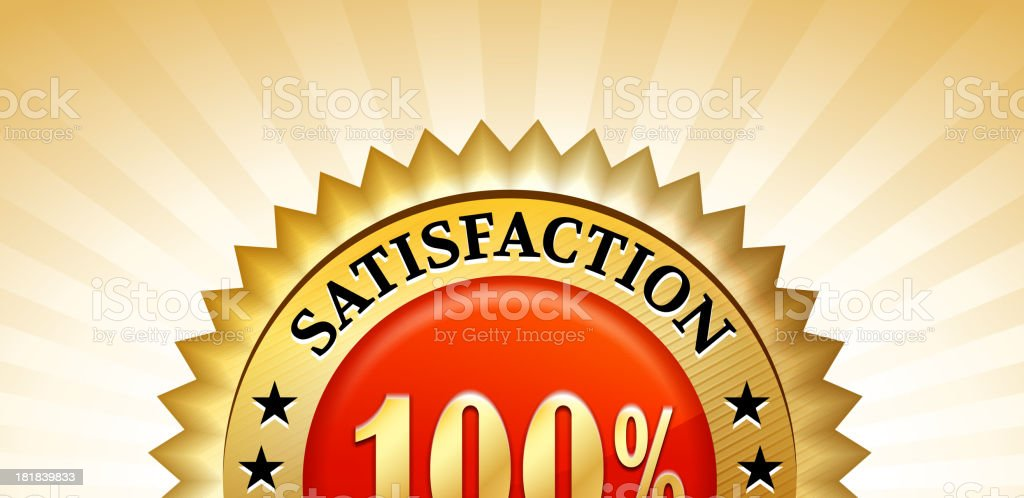 Satisfaction Guarantee Red Badge royalty-free stock vector art