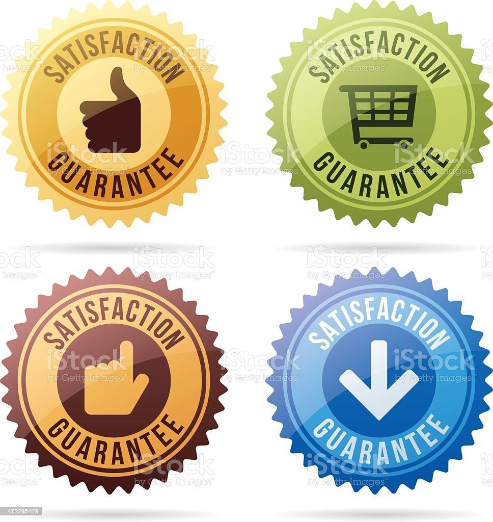 Satisfaction Guarantee Seals royalty-free stock vector art