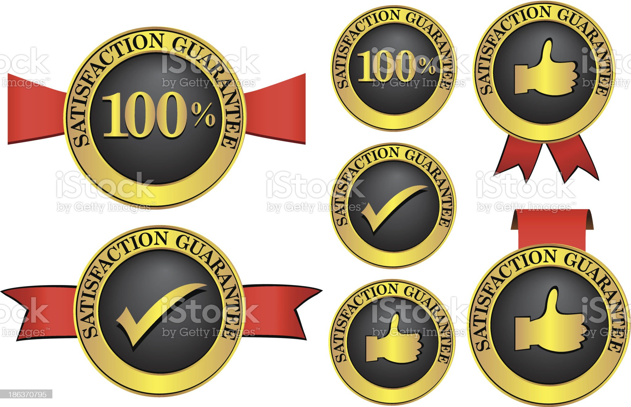 Satisfaction guaranteed label royalty-free stock vector art