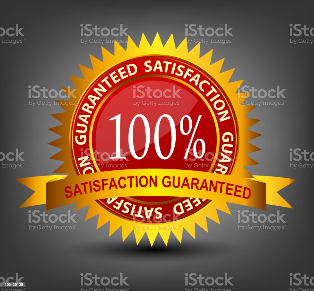 Satisfaction guaranteed label vector illustration royalty-free stock vector art
