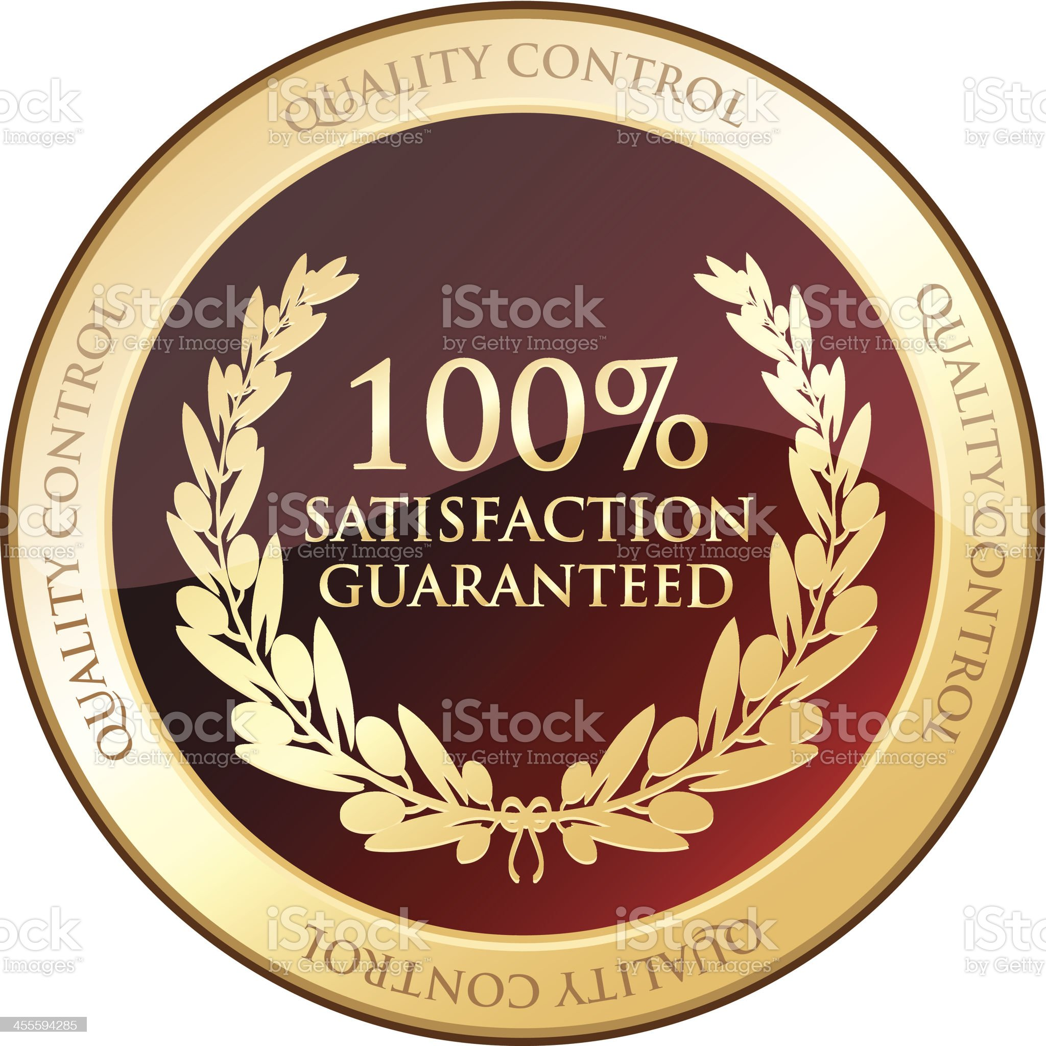 Satisfaction Guaranteed royalty-free stock vector art