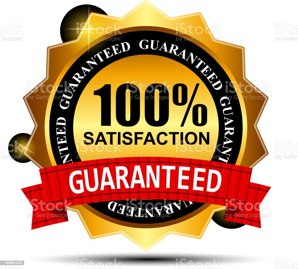 100%  satisfaction label stickers vector illustration vector art illustration