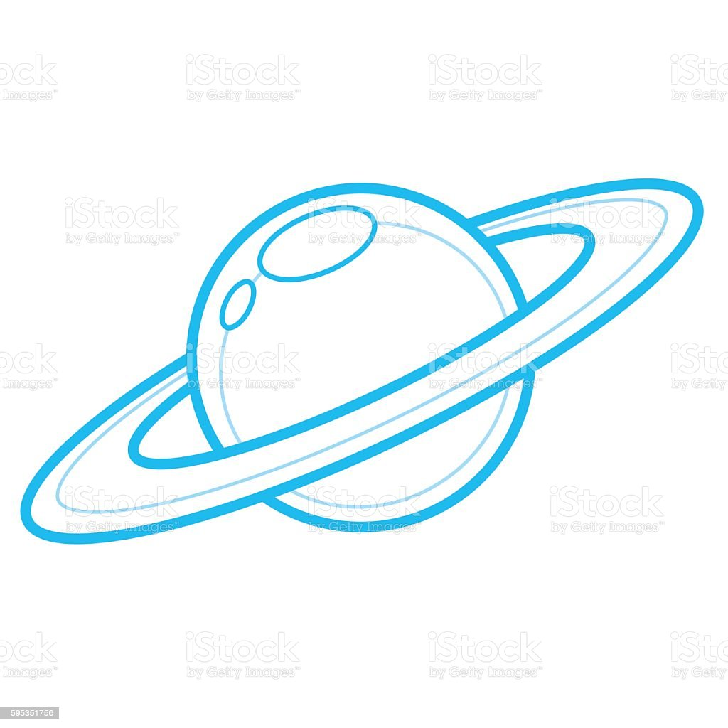 Saturn Icon vector art illustration