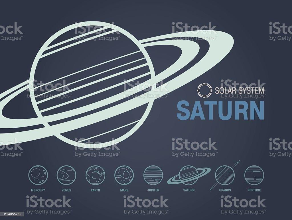Saturn Planet vector art illustration