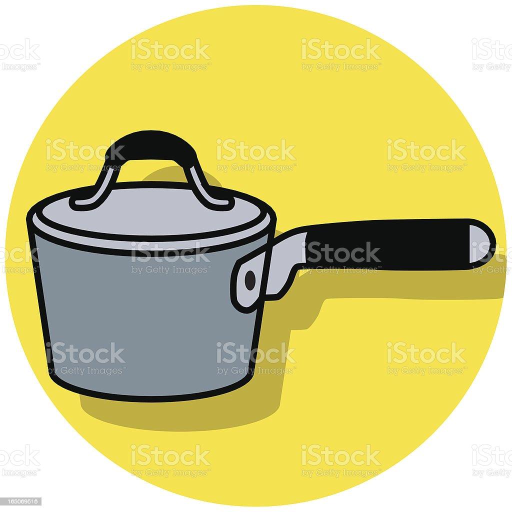 sauce pan icon vector art illustration