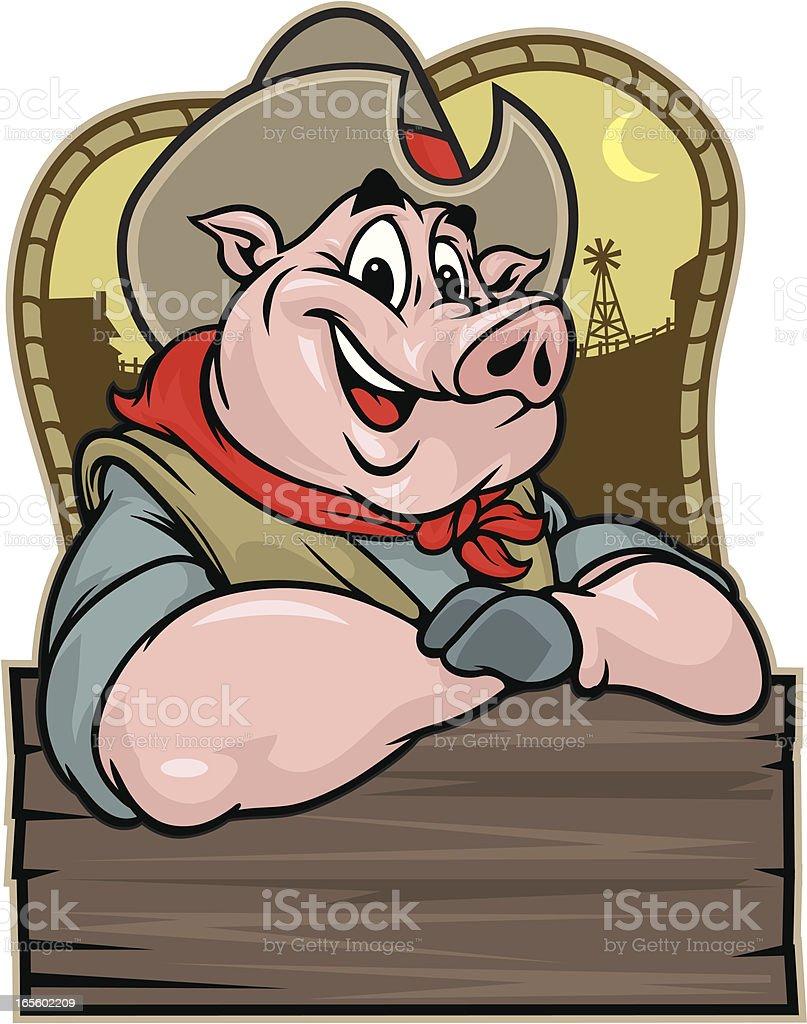 BBQ Sauce Piggy royalty-free stock vector art