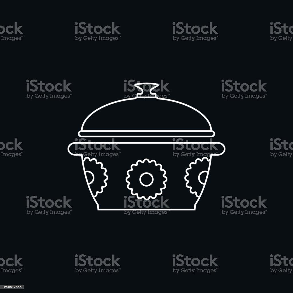 Saucepan icon vector art illustration