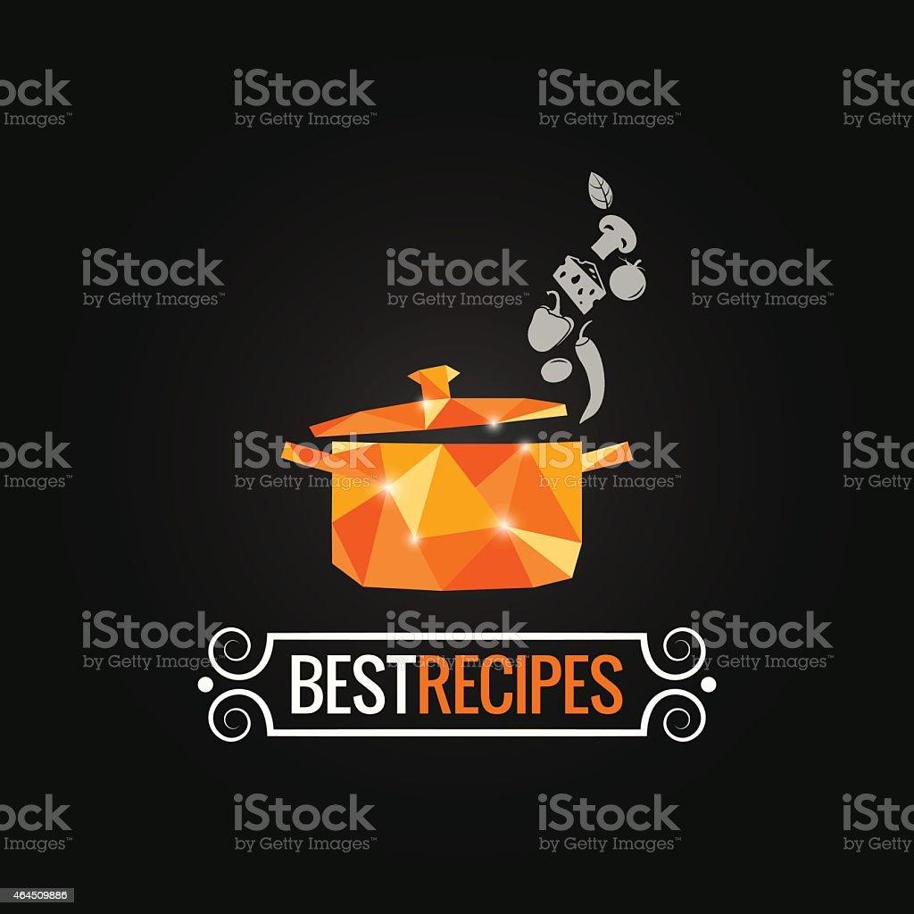 saucepan poly design background vector art illustration