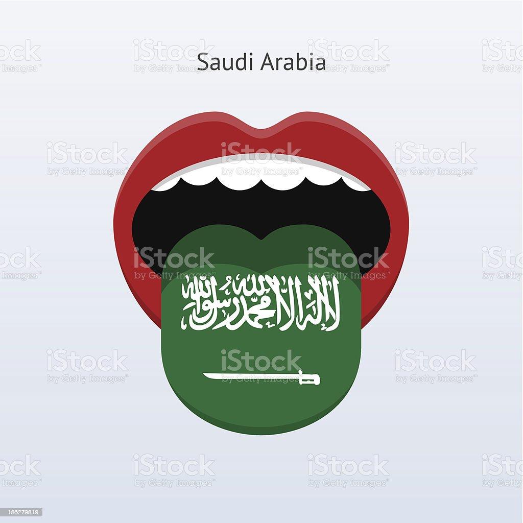 Saudi Arabia language. Abstract human tongue. royalty-free stock vector art
