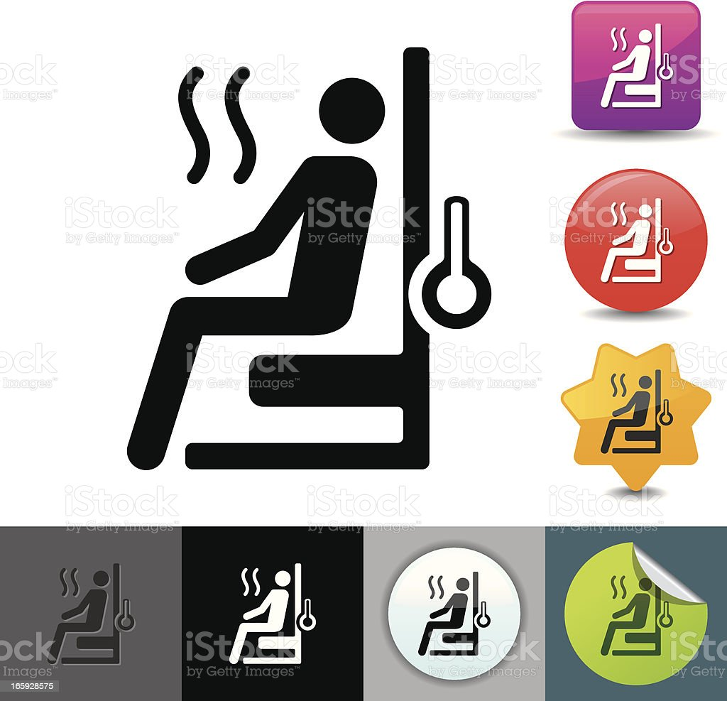 Sauna icon | solicosi series royalty-free stock vector art