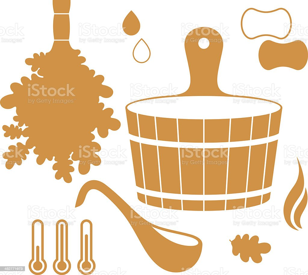 Sauna royalty-free stock vector art
