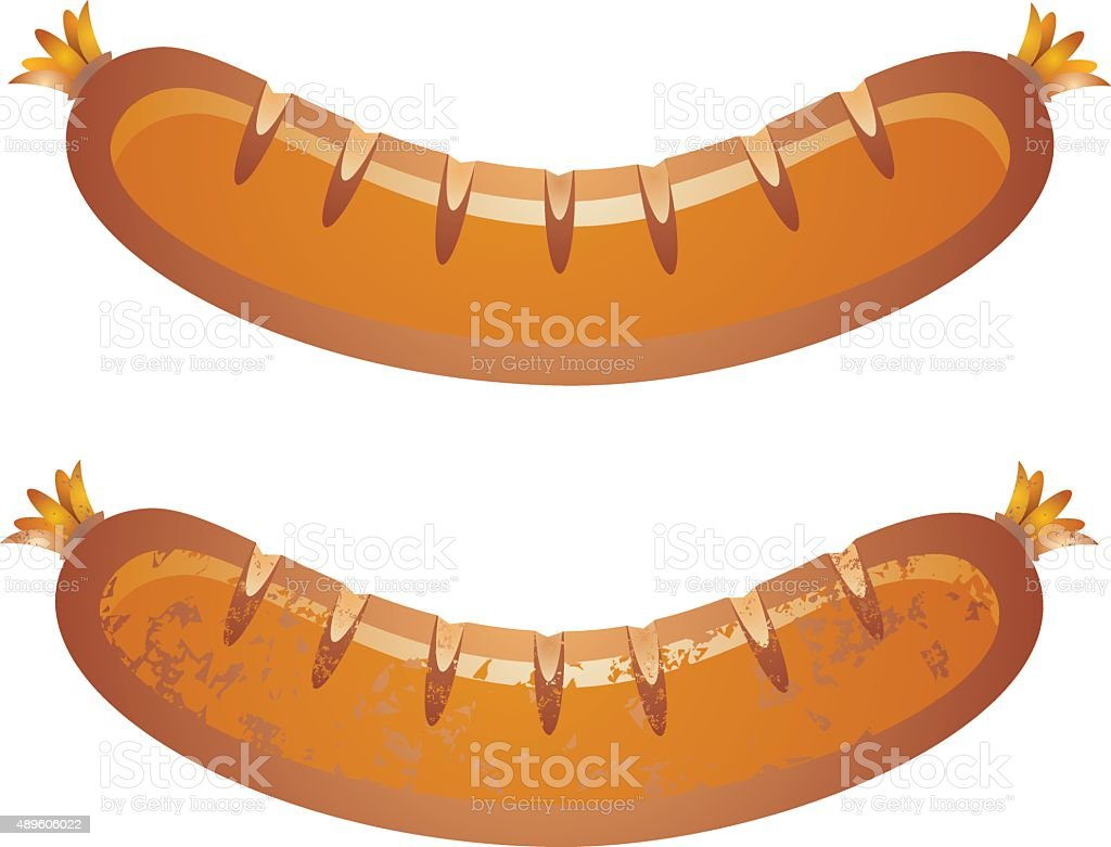 sausage vector art illustration