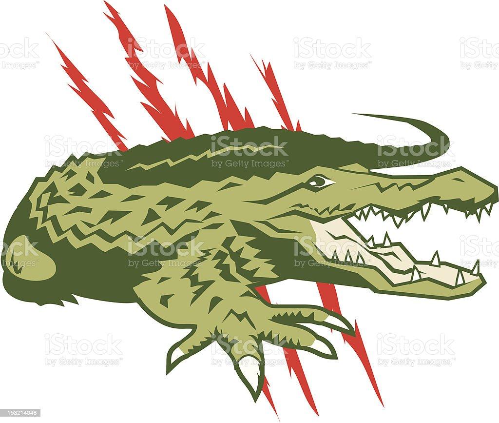 Savage Gator royalty-free stock vector art