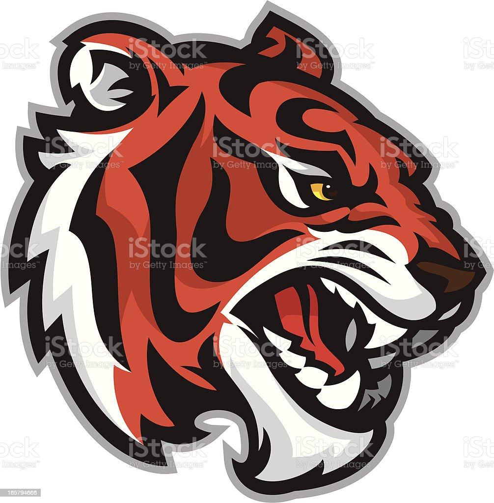 Savage Tiger royalty-free stock vector art