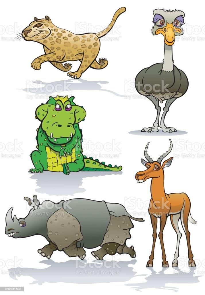 Savanna Fauna vector art illustration