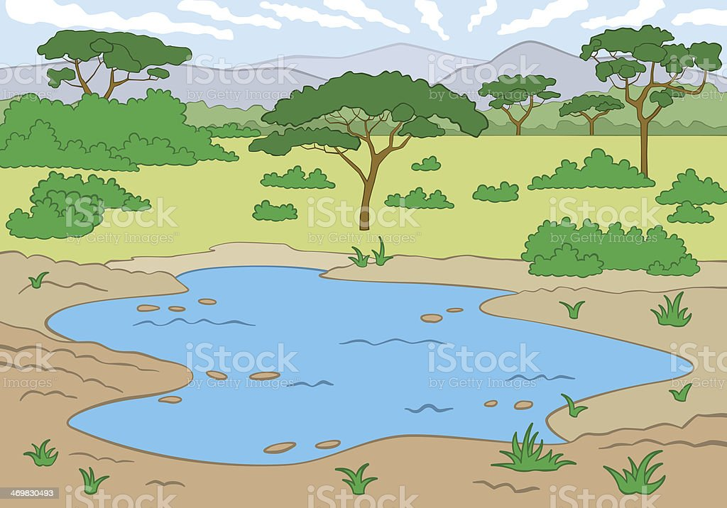 Savanna vector art illustration