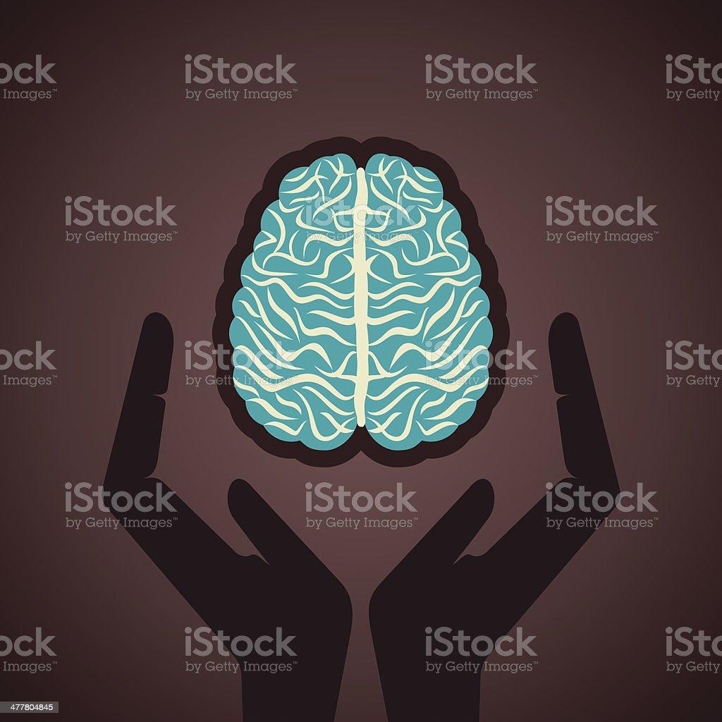 save brain royalty-free stock vector art