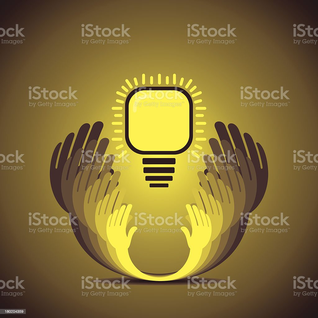 save energy concept royalty-free stock vector art