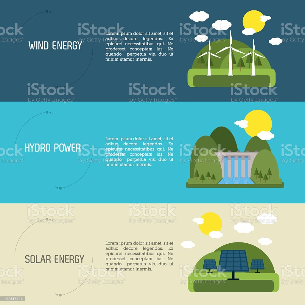 Save Energy design vector art illustration