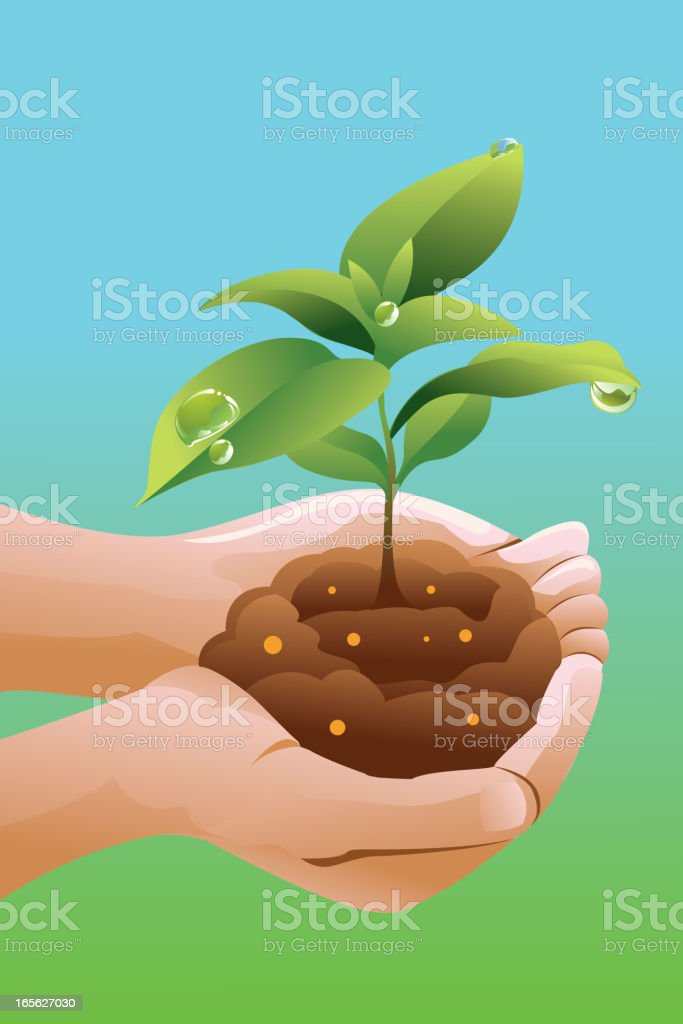 Save Green vector art illustration