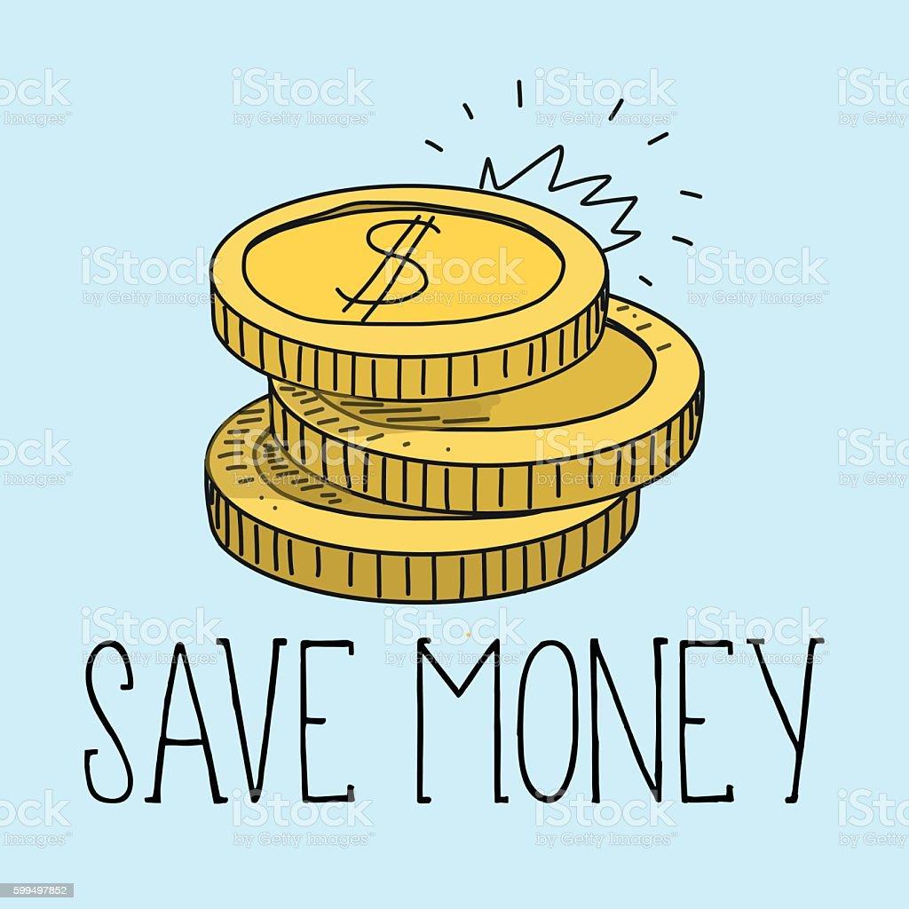 save money and vector illustration vector art illustration
