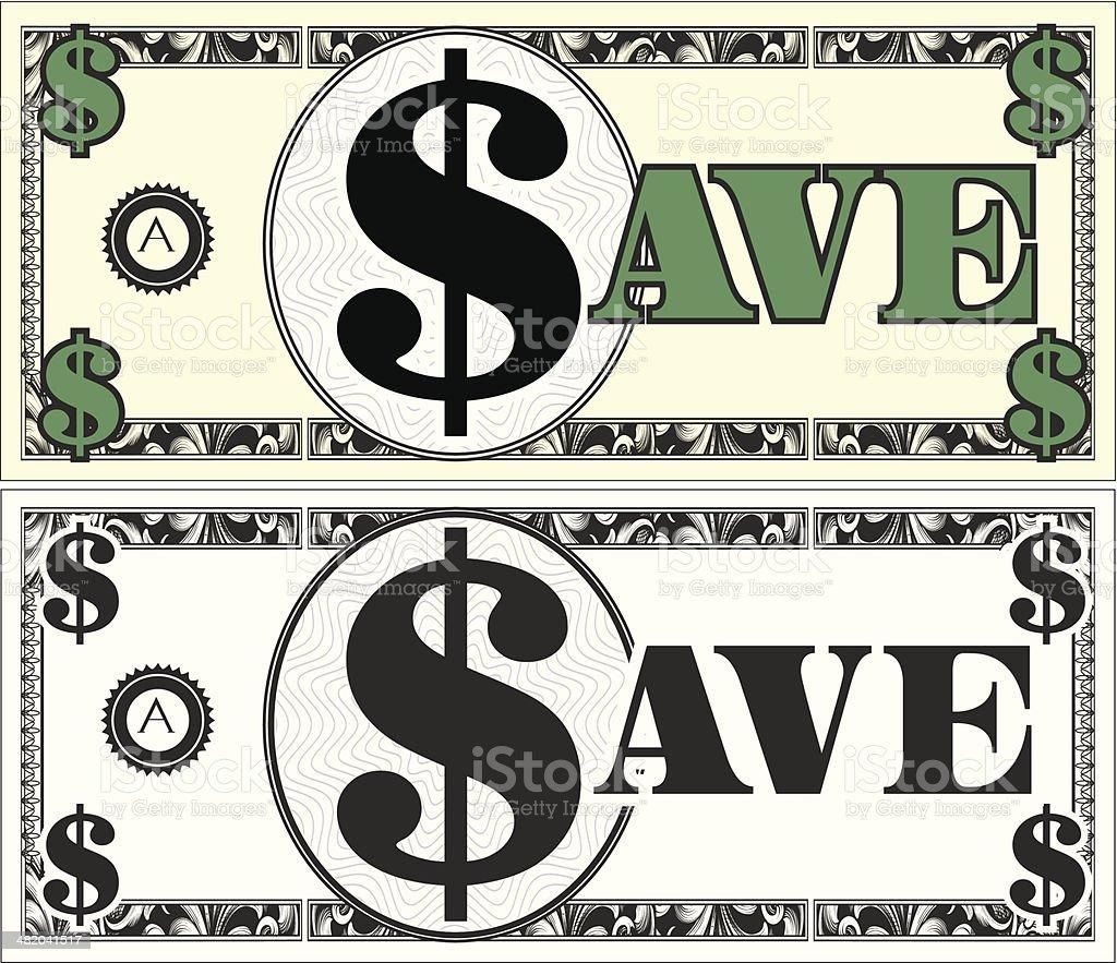 Save Money royalty-free stock vector art