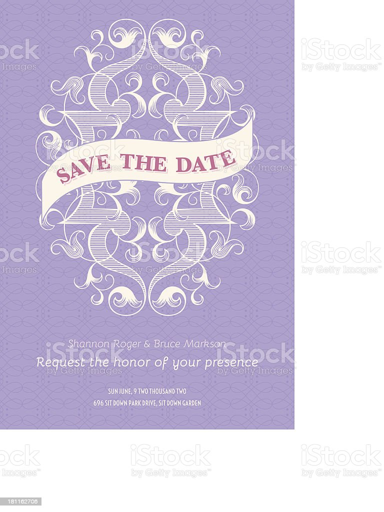 Save the Date Invitation royalty-free stock vector art