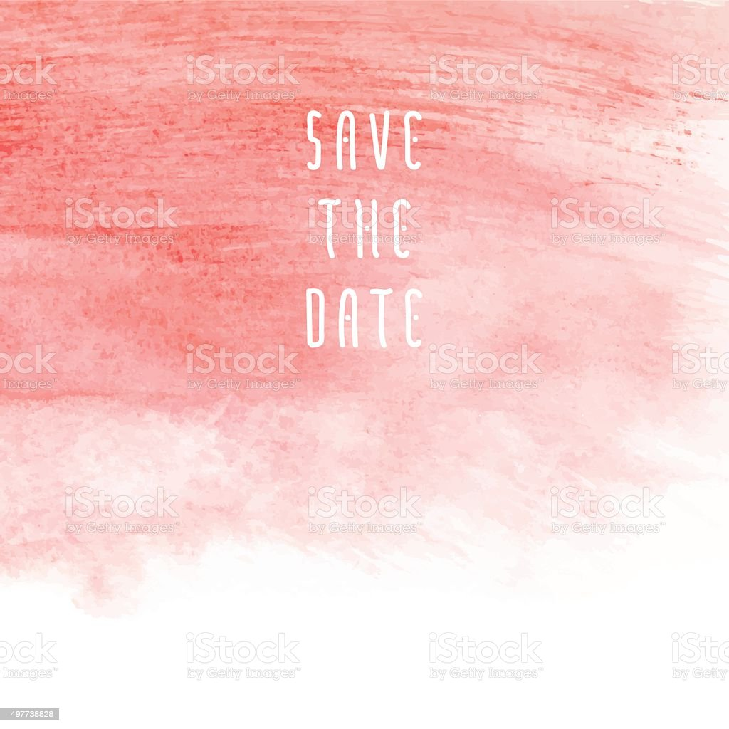 Save the date vector art illustration