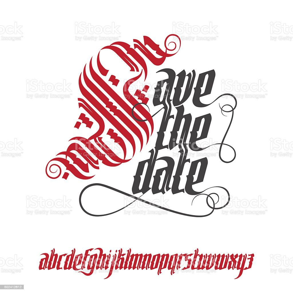 Save The Date Wedding Invitation Card stock vector art 502412612 ...