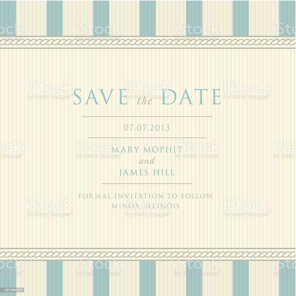 Save the Date with vintage background artwork vector art illustration