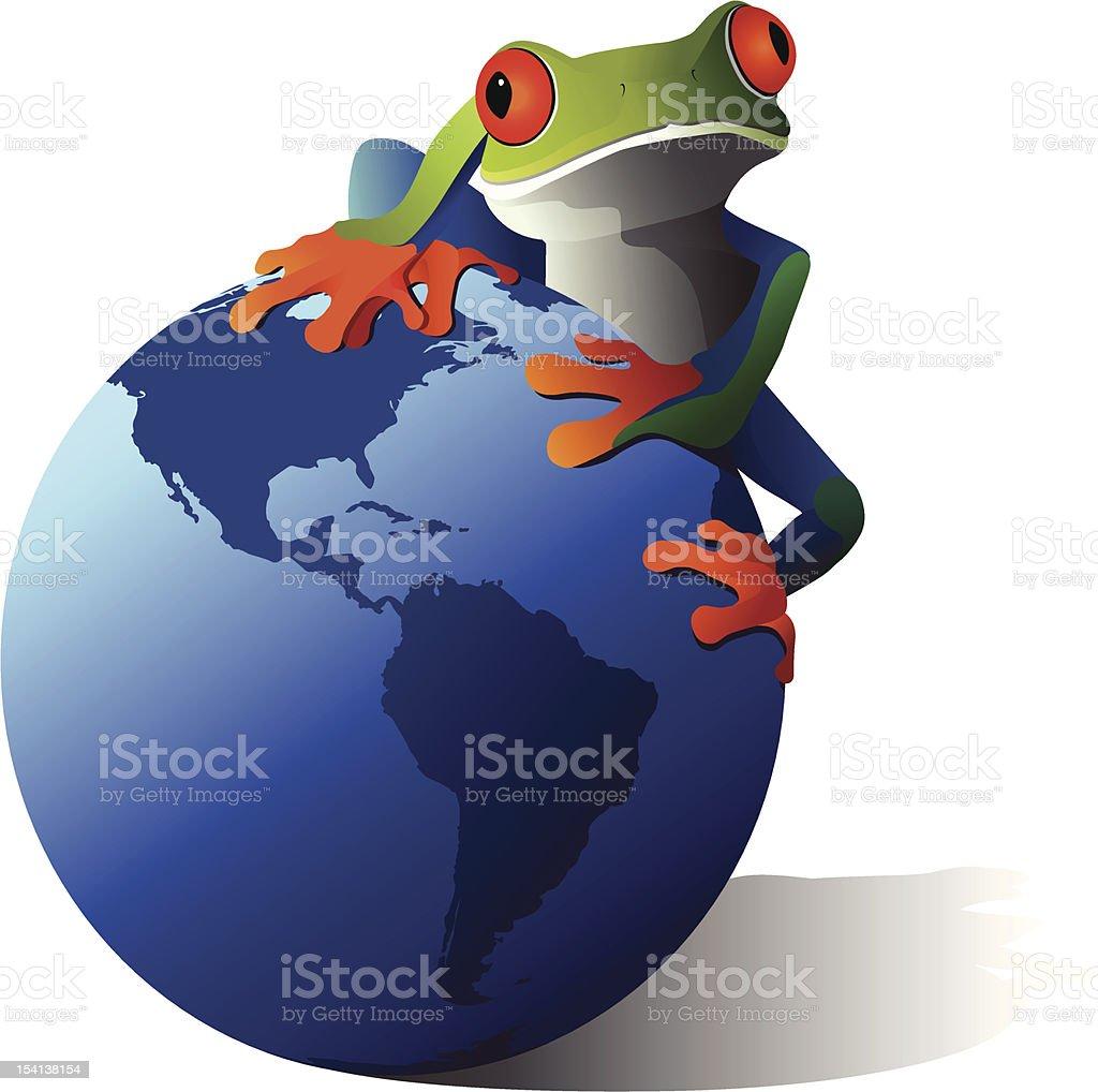 Save the Earth vector art illustration