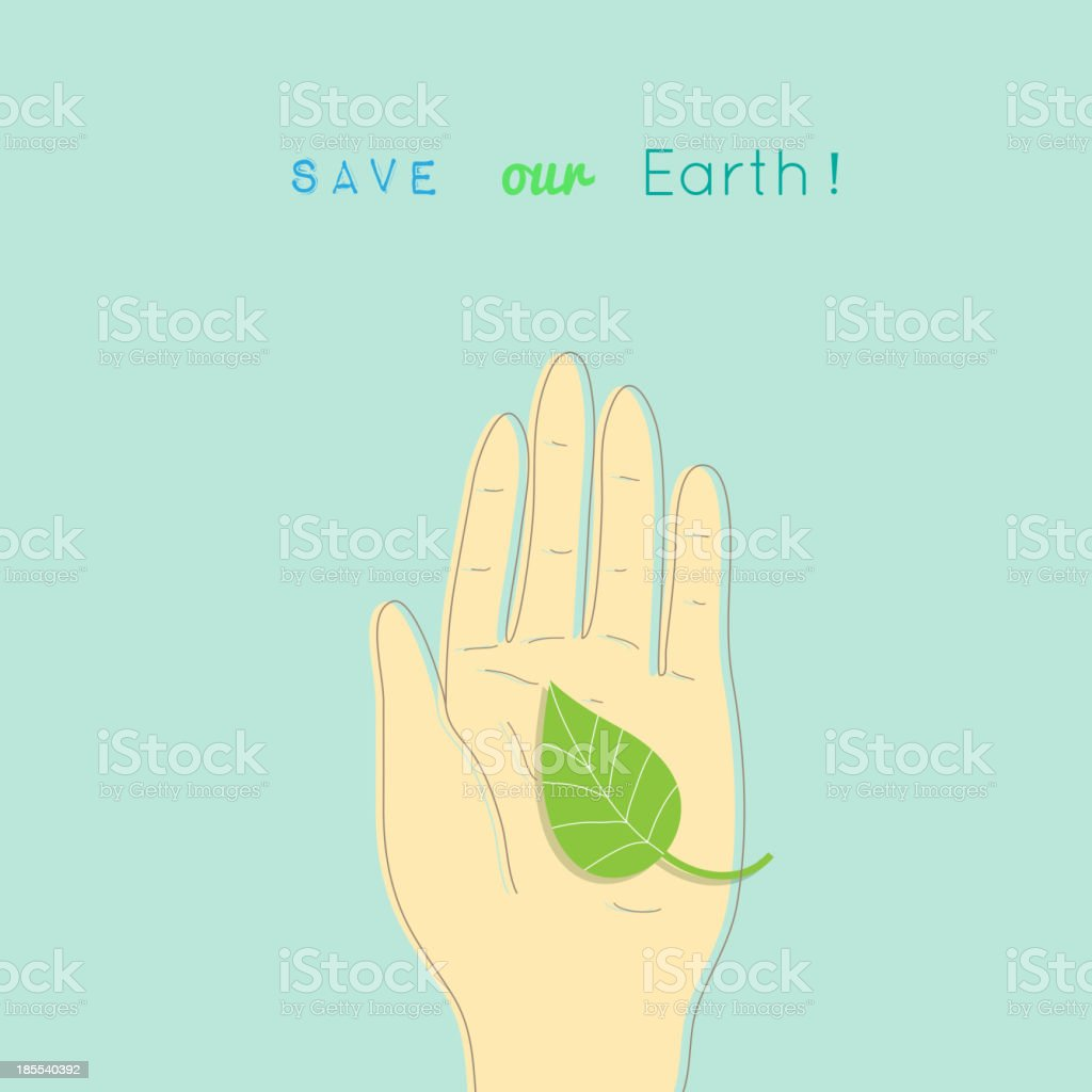 Save the Earth! royalty-free stock vector art