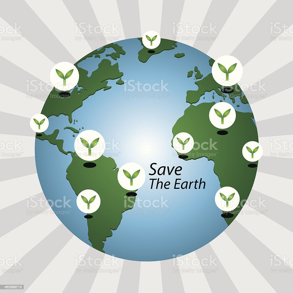 Save The Earth. royalty-free stock vector art