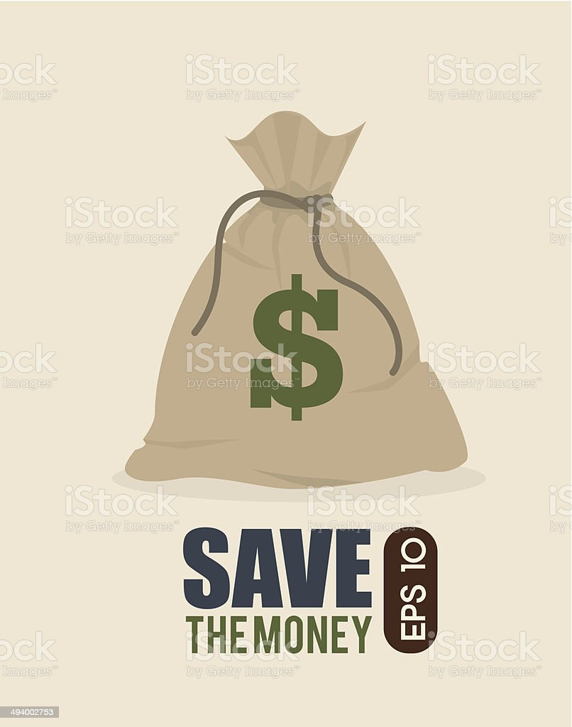 save the money vector art illustration